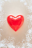 Red heart for love or health Royalty Free Stock Image