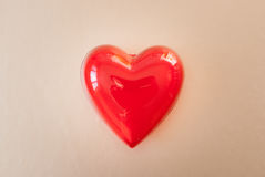 Red heart for love or health Royalty Free Stock Photos