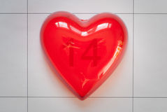 Red heart for love or health Royalty Free Stock Photography