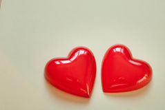 Red heart for love or health Stock Image