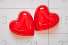 Red heart for love or health Stock Images