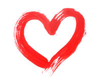 Red heart love Stock Photography