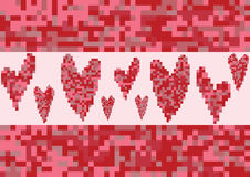 Red heart love pixel Stock Photo