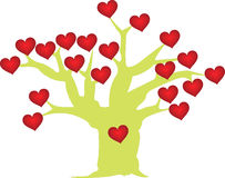 Red heart love tree Royalty Free Stock Photography