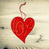 Red Heart. Love and Valentines Day. Vintage Style Royalty Free Stock Photography