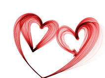 Red heart lovely grunge background Royalty Free Stock Photos