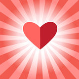 Red heart for lovers Stock Photography