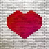 Red Heart made of bricks Royalty Free Stock Photo