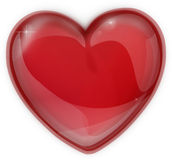 Red heart made of glass icon for a Valentine's Day Stock Photos