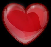 Red heart made of glass icon for a Valentine's Day Royalty Free Stock Photography