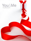 Red Heart Made Of Ribbon Royalty Free Stock Images