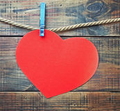 Red heart made of paper with a place for text Royalty Free Stock Image