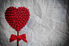 Red heart made of small balls Royalty Free Stock Photos