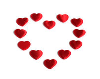 Red heart made of smaller red hearts Royalty Free Stock Photo