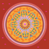 Red heart mandala Royalty Free Stock Images