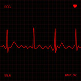 Red Heart Monitor Royalty Free Stock Images