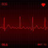 Red Heart Monitor Royalty Free Stock Image