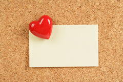 Red Heart and Note Pad Stock Photo