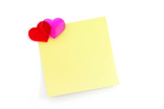 Red heart and notepaper Royalty Free Stock Photography