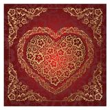 Red Heart Ornament. Royalty Free Stock Photos