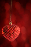 Red heart ornament hanging Royalty Free Stock Images