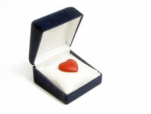 Red heart out of the box Stock Images
