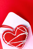 Red heart over envelope Royalty Free Stock Image