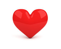 Red heart over white. Background Royalty Free Stock Image