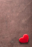Red heart over wooden background for Valentines Stock Photos