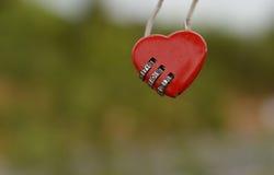 Red heart padlocks Stock Image