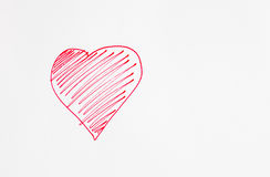 Red heart painted Royalty Free Stock Image