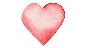 Red heart painted in watercolor. Seamless loop animation. Hand drawn illustration on transparent. Watercolor painted red heart. Perfect for Valentine`s day stock footage