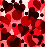 Red heart painting Stock Image