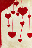 Red heart painting on paper Royalty Free Stock Photo