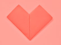 Red Heart paper Stock Images