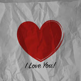 Red heart paper Stock Image