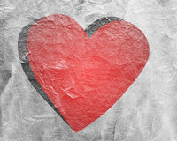 Red heart on paper Royalty Free Stock Photography