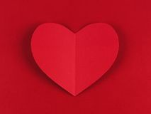Red heart on paper background Royalty Free Stock Photos