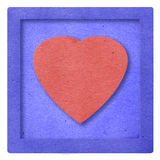 Red Heart paper Stock Photography