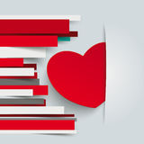 Red Heart Paper Lines Royalty Free Stock Photo