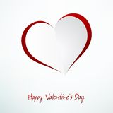 Red Heart Paper Sticker With Shadow. + EPS10 Royalty Free Stock Images