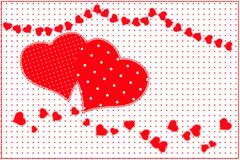 Red heart pattern Royalty Free Stock Photos
