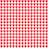 Red heart pattern Stock Images