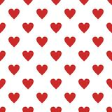Red heart pattern seamless. Repeat illustration of red heart pattern vector geometric for any web design Royalty Free Stock Image