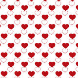 Red heart pattern with transparent background. Vector vector illustration