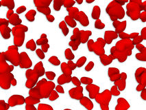 Red heart pattern. On white background Royalty Free Stock Image