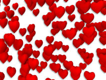 Red heart pattern. On white background Royalty Free Stock Photos