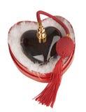 Red heart perfum Stock Photo
