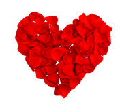 Red heart of petals Royalty Free Stock Photo