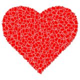 Red heart photo frame Stock Photography